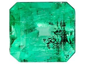 Colombian Emerald 7.1x6.5mm Emerald Cut 1.30ct