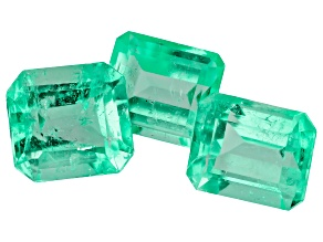 2.53ct mm Varies Set Of 3 Ec Colombian Emerald Clarity Enhanced / Cut: Colombia