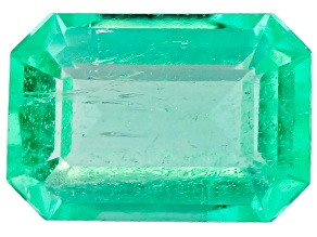 Colombian Emerald 0.30ct Minimum mm Varies Emerald Cut.  The Gemstone Was Mined And Cut in Colombia