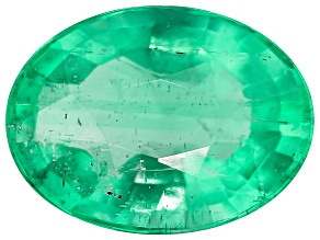 Emerald 0.97ct Minimum mm Varies Oval.  The Gemstone Was Mined And Cut in Zambia