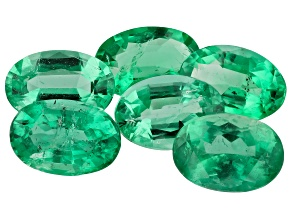 Emerald 6x4mm Oval Set Of 6 2.62ct