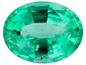1.41ct Zambian Emerald 8.68x6.6mm Oval Mined: Zambia/Cut: india