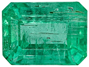 1.71ct Zambian Emerald 8x6mm Rect Oct Mined: Zambia/Cut: india