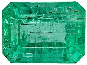 1.71ct Zambian Emerald 8x6mm Rect Oct Mined: Zambia/Cut: india