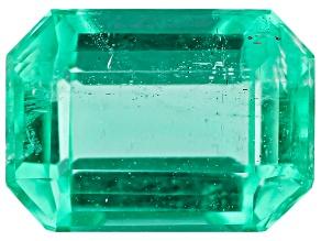 0.99ct Zambian Emerald 7x5mm Rect Oct Mined: Zambia/Cut: india