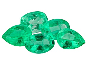 1.98ct Colombian Emerald Set Of 5 Varies mm Fancy Mix Mined: Colombia/Cut: Colombia