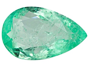 5.58ct Colombian Emerald 16.3x10.3mm Pear Mined: Colombia/Cut: Colombia