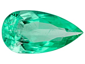 5.09ct Colombian Emerald 17x9mm Pear Mined: Colombia/Cut: Colombia