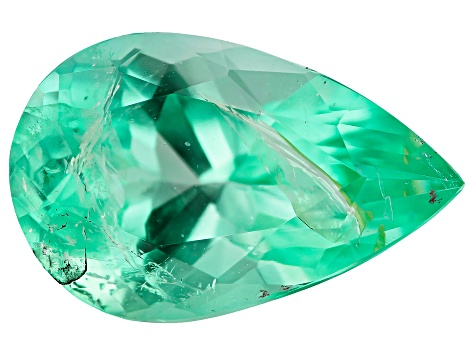 2.42ct Colombian Emerald 12.06x7.07mm Pear Mined: Colombia/Cut: Colombia