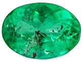 1.24ct Colombian Emerald 8x6mm Oval Mined: Colombia/Cut: Colombia
