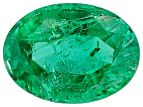 1.13ct Zambian Emerald 8x6mm Oval Mined: Zambia/Cut: india