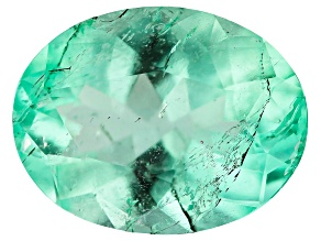 1.46ct Colombian Emerald 9x7mm Oval Mined: Colombia/Cut: Colombia