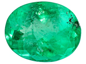 1.68ct Colombian Emerald 9x7mm Oval Mined: Colombia/Cut: Colombia