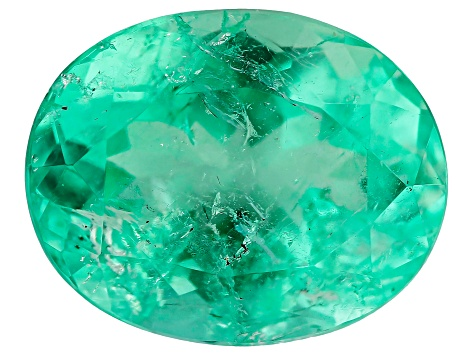 1.65ct Min Colombian Emerald 9x7mm Oval Mined and Cut in Colombia