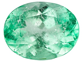 1.92ct Colombian Emerald 9x7mm Oval Mined: Colombia/Cut: Colombia