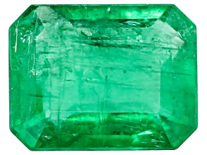 1.22ct Zambian Emerald 7.8x6.0mm Rect Oct Mined: Zambia/Cut: india