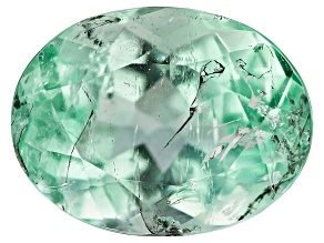 2.08ct Colombian Emerald 9x7mm Oval Mined: Colombia/Cut: Colombia