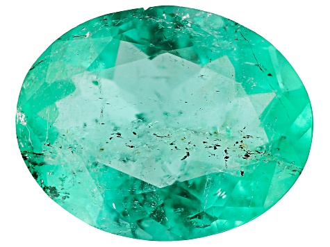 1.59ct Colombian Emerald 9.67x7.70mm Oval Mined: Colombia/Cut: Colombia