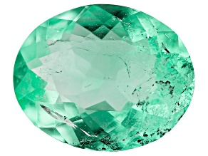 1.90ct Colombian Emerald 10x8mm Oval Mined: Colombia/Cut: Colombia