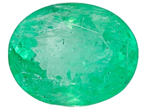 1.36ct Colombian Emerald 8.8x7mm Oval Mined: Colombia/Cut: Colombia