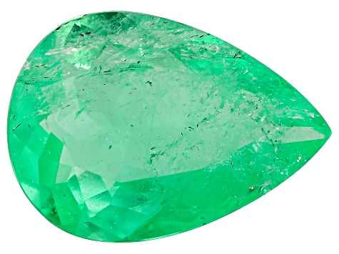 1.89ct Colombian Emerald 11x8mm Pear Mined: Colombia/Cut: Colombia