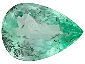 4.83ct Colombian Emerald 14.8x10.5mm Pear Mined: Colombia/Cut: Colombia