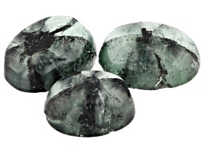 2.50ct Min Trapichi Emerald Set Of 3 Varies mm Varies Shape Mined: Colombia/Cut: Colombia