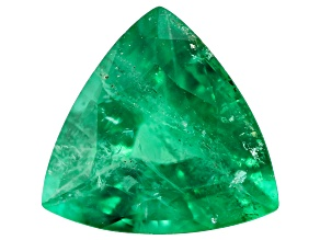 1.66ct Zambian Emerald 8.5mm Trillion Mined: Zambia/Cut: india