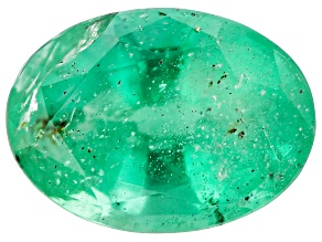 0.74ct Colombian Emerald 7x5mm Oval Mined: Colombia/Cut: Colombia