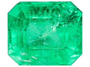 8.78ct Colombian Emerald 13.1x11.3mm Rect Oct Mined: Colombia/Cut: Colombia