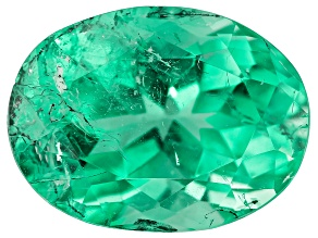 7.90ct Colombian Emerald 14.8x11.1mm Oval Mined: Colombia/Cut: Colombia