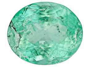 Emerald 7.4x6.2mm Oval 1.22ct