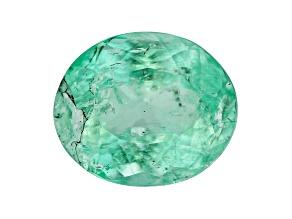 Emerald 7.4x6.2mm Oval 1.22ct
