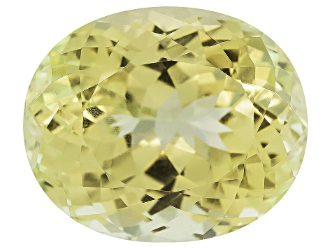 Triphane Yellow Spodumene Oval 35.00ct