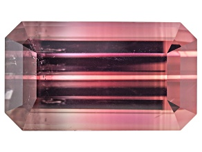 Bi-Color Tourmaline 12.46x7.12mm Emerald Cut 4.36ct