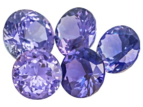 Purple Sapphire Untreated Mixed Shape Set 3.35ctw