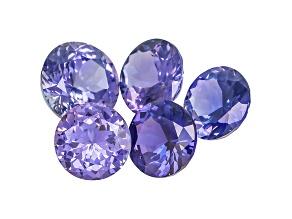 Purple Sapphire Untreated Mixed Shape Set 3.35ctw