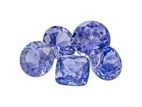 Sapphire Mixed Shape Set 3.87ctw