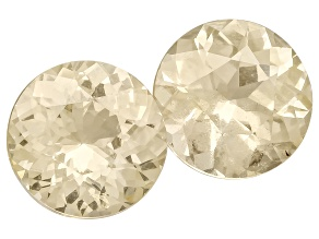 Yellow Sapphire 5.7mm And 5.8mm Round Matched Pair 1.71ctw