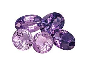 Purple Sapphire Mixed Shape Set 3.75ctw