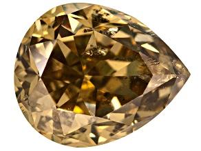 Brownish Yellow Diamond 5.32x4.33mm Pear Shape Brilliant Cut .51ct