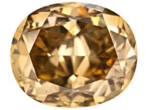 Yellow Diamond 4.61x3.84mm Oval Brilliant Cut .42ct