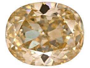 Yellow Diamond 5.68x4.61x2.98mm Oval Brilliant Cut .63ct