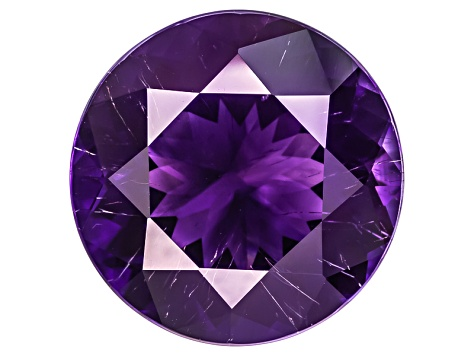 Amethyst With Needles 17mm Round 16.06ct