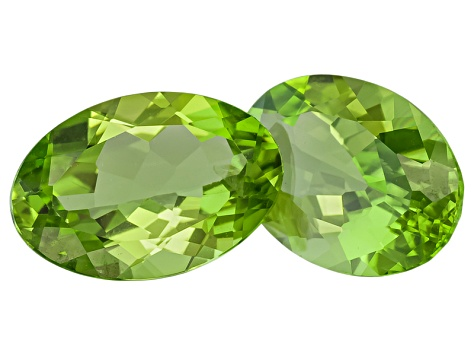 Peridot 12x8mm Oval 5.94ctw Matched Set