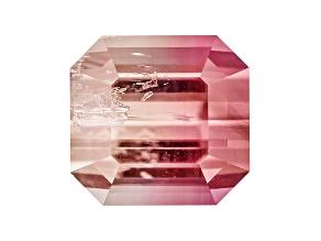 Bi-Color Tourmaline 6.74x6.41mm Square Emerald Cut 1.68ct