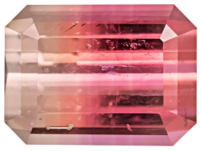 Bi-Color Tourmaline 9.86x7.28mm Emerald Cut 3.01ct