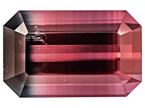 Bi-Color Tourmaline 11.98x7.63mm Emerald Cut 5.11ct