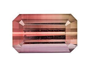 Bi-Color Tourmaline 12.01x7.34mm Emerald Cut 4.84ct