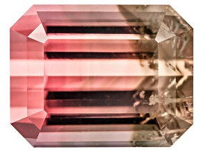 Bi-Color Tourmaline 8.87x6.96mm Emerald Cut 2.99ct